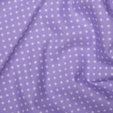 Lilac Polka Dot Cotton Poplin